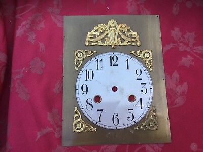 Vintage Brass Spandrel With Brass Dial For Spares