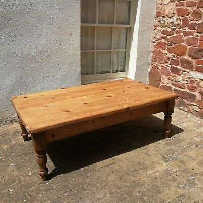 Large Vintage Pine  coffee table 5ft X 3ft