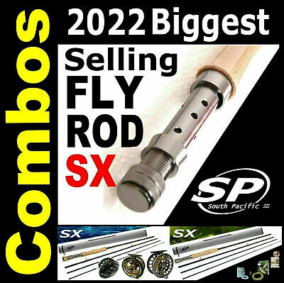 2018 FLY ROD - South Pacific SX Fly Fishing Combo Outfits Rods 4 5 6 7 8 9 10wt