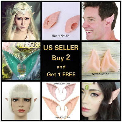 6 Styles 2Pcs Elf Ears Halloween Cosplay Latex Prosthetic Hobbit Vulcan Alian
