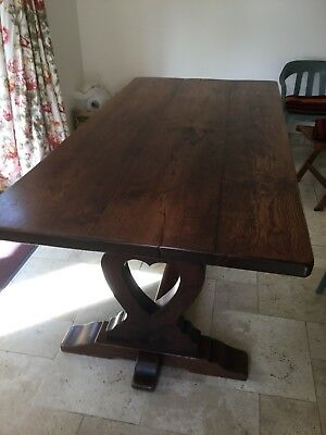 A Solid Oak Refectory Table