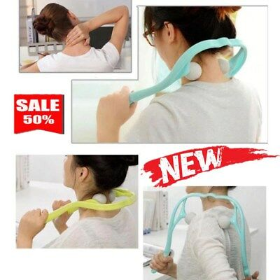 UK Pressure Point Therapy Massager Self Massage Neck Pain Roller Ball RT4X