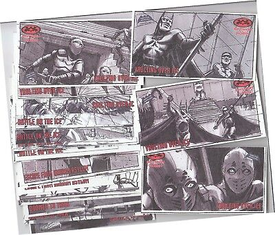 """Batman & Robin Movie Widevision - 24 Card """"Storyboard"""" Chase Set S1-S24 - 1997"""