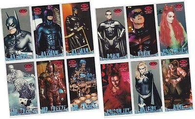 "Batman & Robin Movie Widevision - 12 Card ""Profiles"" Chase Set P1-P12 - 1997"