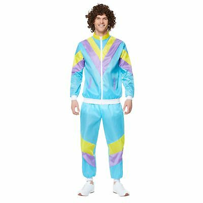 Mens Shell Suit Costume 80s 90s Scouser Tracksuit Stag Do Fancy Dress Outfit