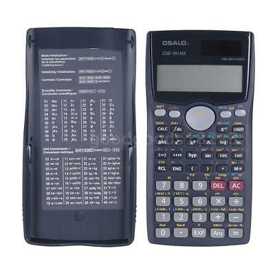 Solar & Battery 401 Functions Scientific Calculator Counter For Student SAT/AP