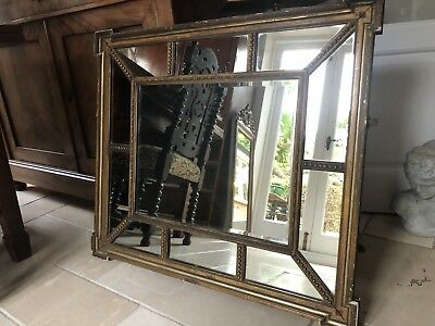A 19Th Century Gilt Framed Antique Wall / Overmantle Mirror  Georgian