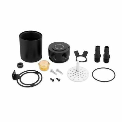 Vehicle Compact Baffled Oil Catch Can, 2-Port, Black, Universal
