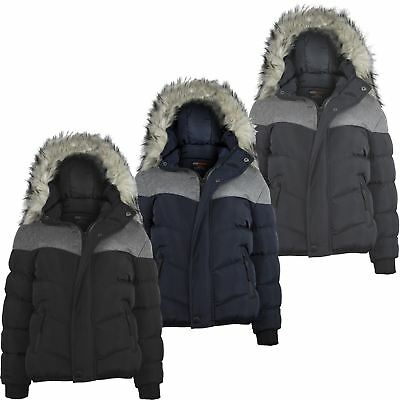Boys Winter Fleece Jacket Padded Contrast Insert Teen Detach Hood Coat 3-14 Y