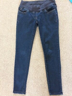 Used Next Under Bump Maternity Jeans. Blue. Uk Size 8R