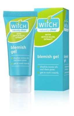 WITCH NATURALLY CLEAR BLEMISH GEL HAZEL OILY SKIN ENLARGED PORES OIL- FREE 35ml