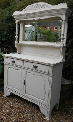 Superb Ornate  Victorian   Painted / Distressed  Sideboard