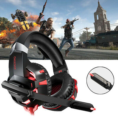 ONIKUMA Mic Stereo Gaming Headset LED Headphones For PC Laptop PS 4 X box One
