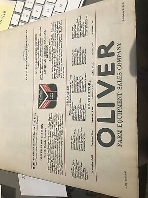 1930's Tractor Factory Advertising Oliver Tractor