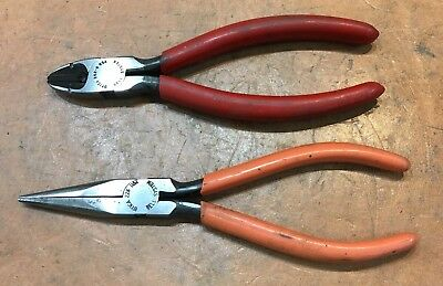 Vintage Bell System - Utica Insulated Pliers - Needle Nose & Side Cutter - USA