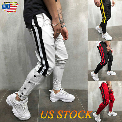 Men's Tracksuit Pants Casual Sports Jogging Bottoms Joggers Gym Sweats Trousers
