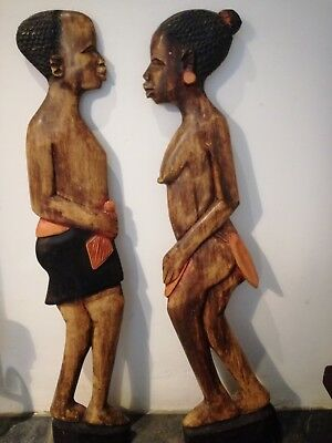 African wooden wall decorations