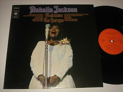 LP Mahalia Jackson: Welcome To Europe - Niederlande CBS SPR 32