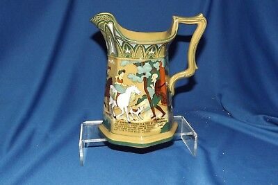 Buffalo Pottery Emerald Deldare Dr. Sytax Bound to a Tree by Highwaymen Pitcher