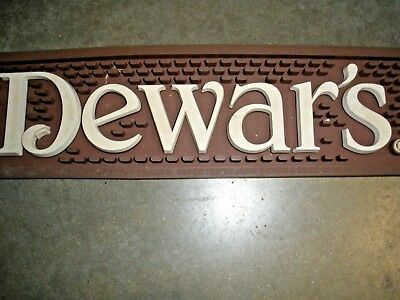 Lot of 5 DEWAR'S Scotch Rubber Bar Mat Collectible 2013 Vintage