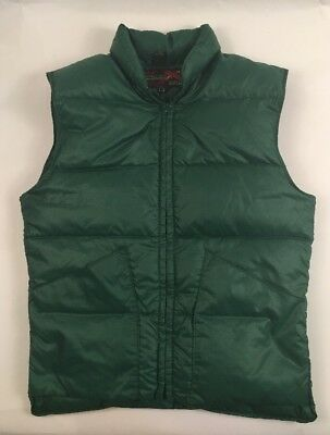 VTG 70s 10X 10-X GOOSE DOWN puffer puffy vest hunting USA Made Green Mens Small