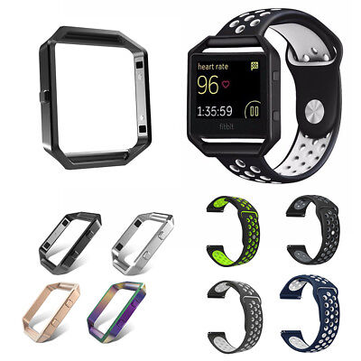 Replacement Stainless Steel Loop Strap Wrist Band or Frame fr Fitbit Blaze Watch