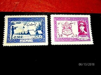Persia 1052-3*cpl vf/xf NH scouting, cat 50.-