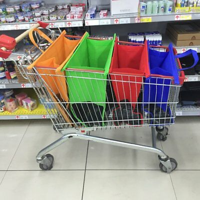 4PCS/Set Shopping Cart Trolley Bags Foldable Reusable Grocery Shopping Bag LP