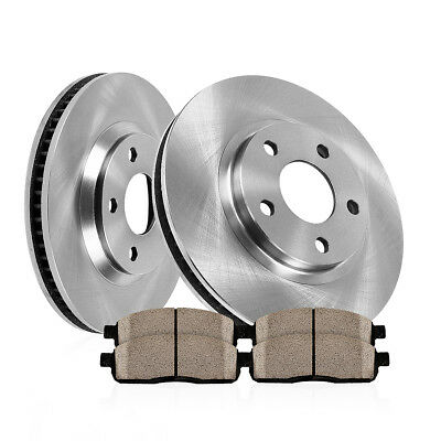 Front 325 mm Brake Rotors And Ceramic Pads For 2013 Ford Taurus Limited SE SEL