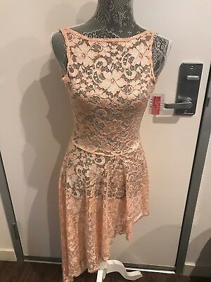 NWT Ballet/Dance Pink Dress Overlay Lace Adult small