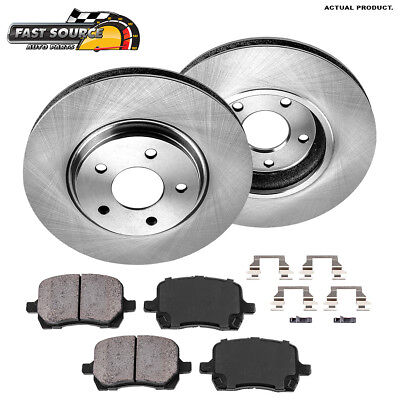 Front And Rear Brake Rotors Ceramic Pads For Chevy Cobalt Malibu G6 GT GXP Aura