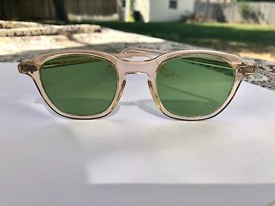 Rare ! 1950's Ray-Ban  Bausch & Lomb Sunglasses Safety Bl2 Green Lenses