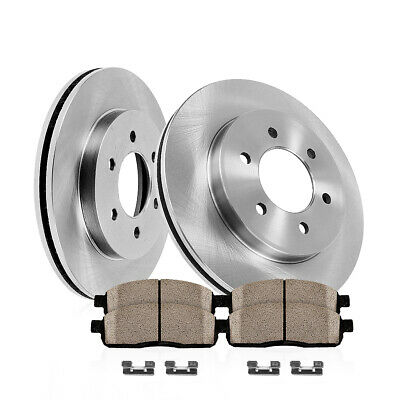 Rear OE Disc Brake Rotors & Ceramic Pads For 2010 - 2015 SRX 2011 Saab 9-4X