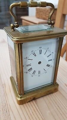 Antique carriage clock for spares or repair not working.