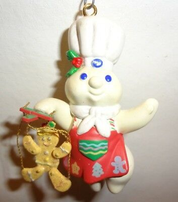 Pillsbury Doughboy Poppin Fresh Christmas Holiday Ornament With Box
