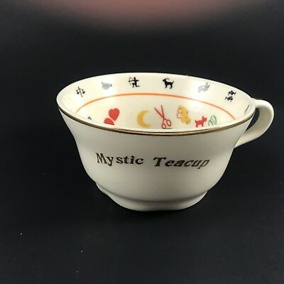 Mystic Teacup 1949 Fortune Telling Tea Leaf Reading Zodiac M Scott Numerology