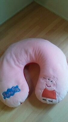 Peppa Pig Travel Pillow Reversible Pink Plush Neck Cushion Head Support & Toy