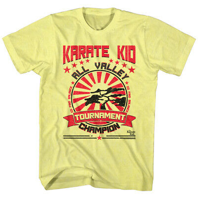 The Karate Kid T-Shirt All Valley Tournament Champion Yellow Heather Tee