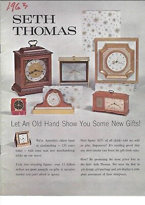 SETH THOMAS CLOCKS Advertisement Catalog Lot 6 Brochure's 1956 59 60 61 62 63