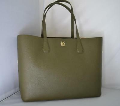 b7ca3732d9ec AUTH  395 NWT TORY BURCH Brody Pebbled Leather Tote Shoulder Bag In Banana  Leaf