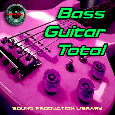 BASS TOTAL - LARGE Unique Samples/Grooves 24 bit WAVEs ProductionLibrary on DVD