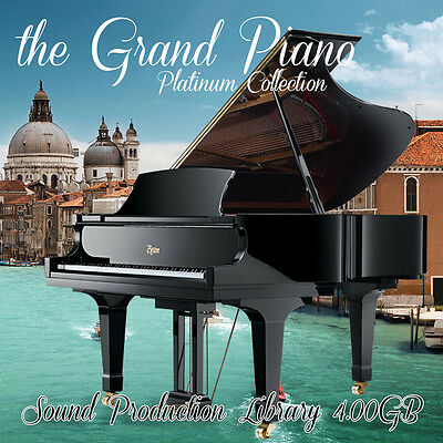 GRAND PIANO PLATINUM - HUGE Perfect 24bit WAVE Multi-Layer Samples Library DVD