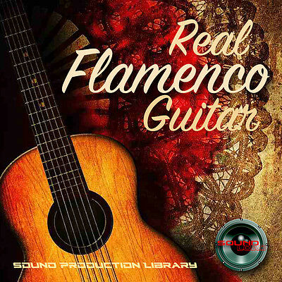 FLAMENCO GUITAR REAL - HUGE Unique 24bit WAVEs Samples/Grooves Library on DVD