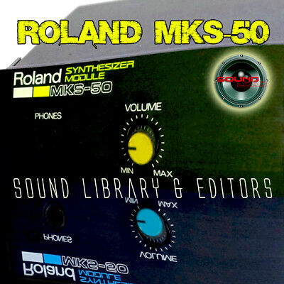 for ROLAND MKS-50 Original Factory and NEW Created Sound Library & Editors on CD