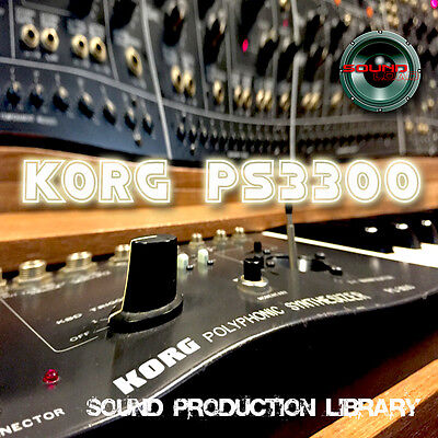 KORG PS3300 - Original Multi-Layer WAV/KONTAKT Production Sound Library on DVD