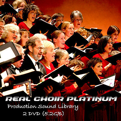 CHOIR REAL PLATINUM -HUGE Perfect 24bit WAVE Multi-Layer Samples Library on 2DVD