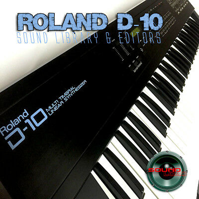 for ROLAND D-10 Original Factory & New Created Sound Library & Editors on CD