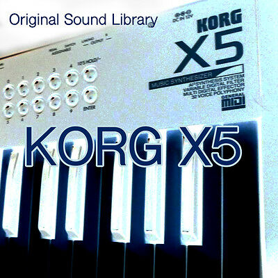 KORG X5/X5D/X5DR/05 Original Factory & New Created Sound Library/Editors on CD