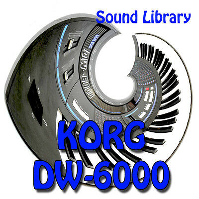 KORG DW-6000 HUGE Original Factory & New Created Sound Library & Editors on CD
