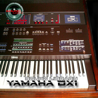 YAMAHA DX1 HUGE Original Factory & New Created Sound Library/Editors on CD